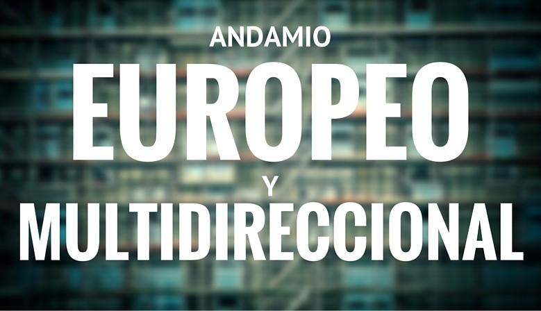 Andamio europeo y multidireccional