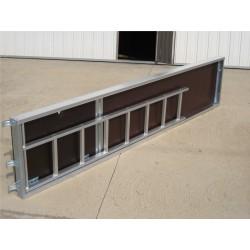 Plataformas de aluminio con trampilla